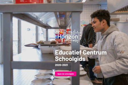 Screenshot schoolgids educatief centrum nieuw