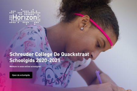 Screenshot schoolgids de quackstraat