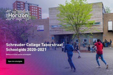 Screenshot schoolgids taborstraat