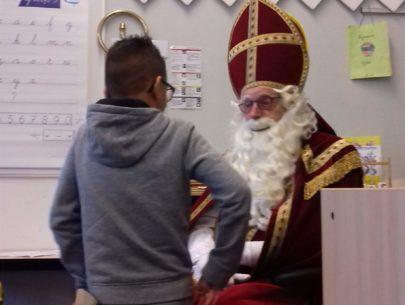 Sint en een leerling