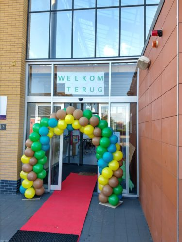 Start school met ballonnen